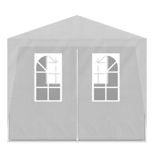 White Party Tent with 6 Walls 3