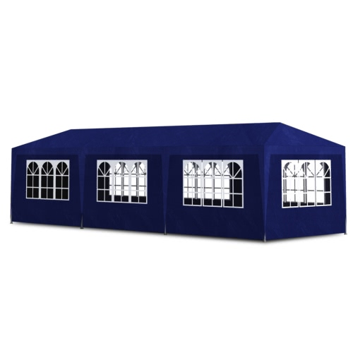 Blue Party Tent with 8 Walls 3