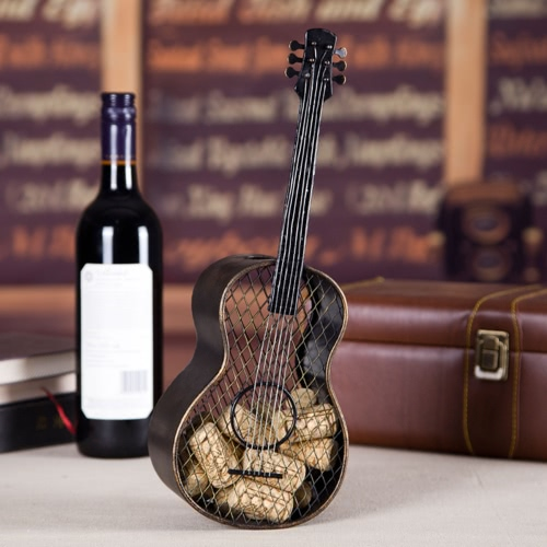 Tooarts Guitar wine cork container  Handcrafts Home decoration Decorations Practical craftsPatio Furniture<br>Tooarts Guitar wine cork container  Handcrafts Home decoration Decorations Practical crafts<br><br>Blade Length: 36.0cm