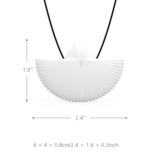 Tomfeel 3D Printed Jewelry Fan Elegant Modeling Pendant Jewelry Necklace Accessories3D Printing Crafts<br>Tomfeel 3D Printed Jewelry Fan Elegant Modeling Pendant Jewelry Necklace Accessories<br><br>Blade Length: 9.0cm