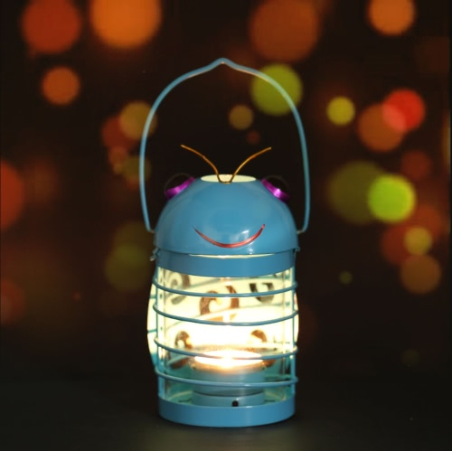 TOOARTS beetle candle holder(blue) Hurricane lamp Practical