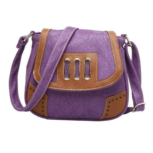 Vintage PU Leather Magnetic Snap Closure Hollow
