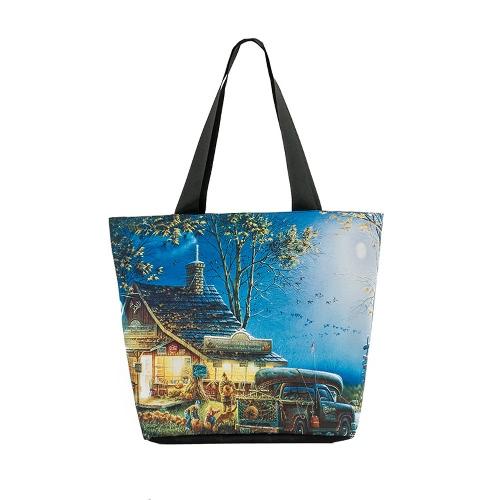 New Vintage Women Handbag Landscape Print Large Capacity Casual Shoulder Bag ToteNew Vintage Women Handbag Landscape Print Large Capacity Casual Shoulder Bag Tote<br><br>Blade Length: 35.0cm
