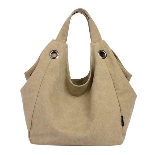 Fashion  Canvas Shoulder Zipper Closure Solid Color Hobo Handbag for WomenFashion  Canvas Shoulder Zipper Closure Solid Color Hobo Handbag for Women<br><br>Blade Length: 30.0cm
