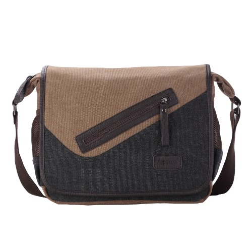 New Fashion Men Canvas Crossbody Bag Large
