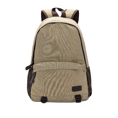 New Fashion Men Canvas Backpack Zipper Casual