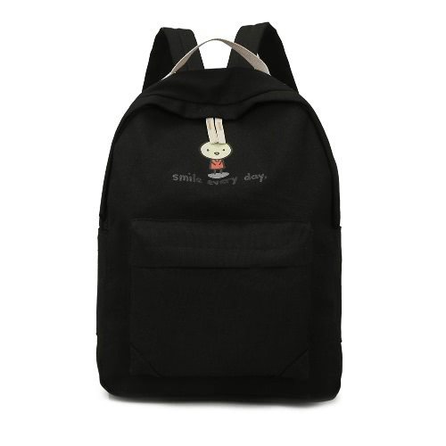 Fashion Cartoon Print Zipper Pockets Unisex Canvas