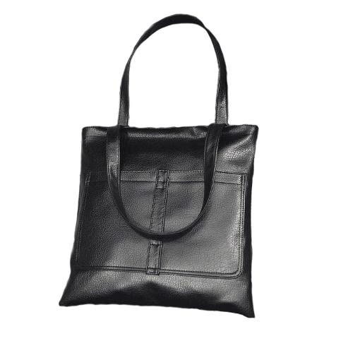 New Fashion Women Handbag PU Leather Zipper Grab Handle Double Pocket Totes Shoulder BagNew Fashion Women Handbag PU Leather Zipper Grab Handle Double Pocket Totes Shoulder Bag<br><br>Blade Length: 35.0cm