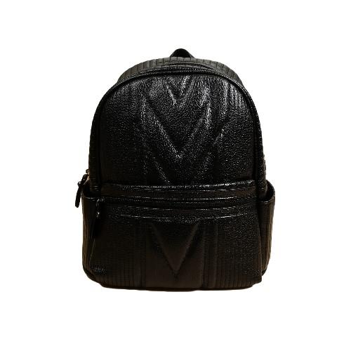 Buy Women Backpack PU Leather Zipper Adjustable Strap Causal Student Shoulder Bag Black/Grey/Red