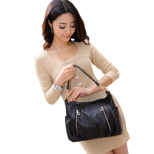 New Fashion Women Handbag PU Leather Zipper
