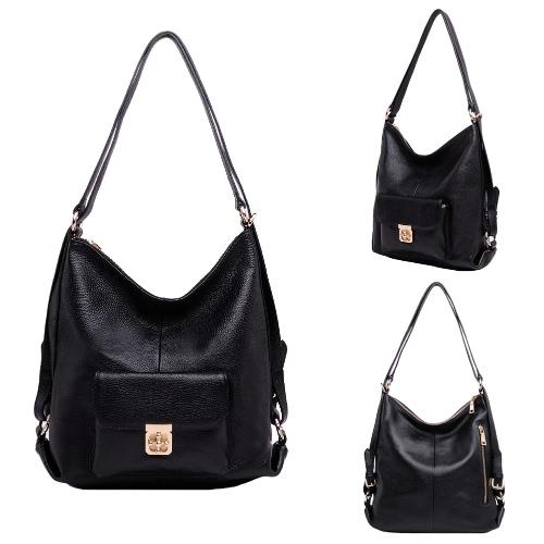 Buy Fashion Women Genuine Leather Shoulder Bag Zipper Large Capacity Business Handbag Hobos