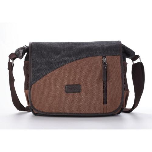 New Men Canvas Crossbody Bag Large Capacity