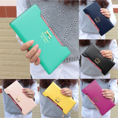 Fashion Women Lady Long Purse Bow Knot PU Leather Coin Wallet Card Holder Clutch BagFashion Women Lady Long Purse Bow Knot PU Leather Coin Wallet Card Holder Clutch Bag<br><br>Blade Length: 25.0cm