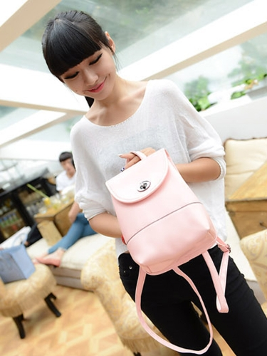 New Fashion Women Backpack Candy Color PU