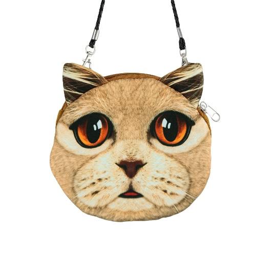 New Cute Women Shoulder Bag Cat Face Cartoon Print Zipper Closure Messenger Clutch Coin Purse BagNew Cute Women Shoulder Bag Cat Face Cartoon Print Zipper Closure Messenger Clutch Coin Purse Bag<br><br>Blade Length: 19.0cm