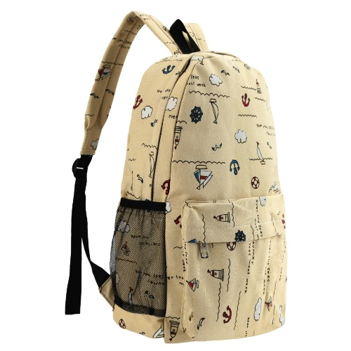 New Men Women Canvas Backpack Nautical Print Large Capacity Student School Bag Unisex Outdoor Casual BagNew Men Women Canvas Backpack Nautical Print Large Capacity Student School Bag Unisex Outdoor Casual Bag<br><br>Blade Length: 48.0cm