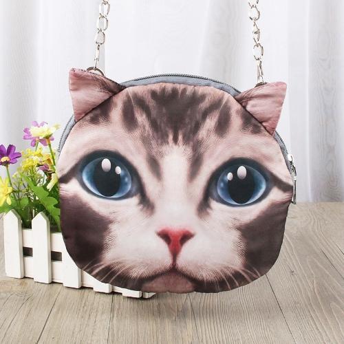 Cute Fashion Women Crossbody Bag Cat Animal