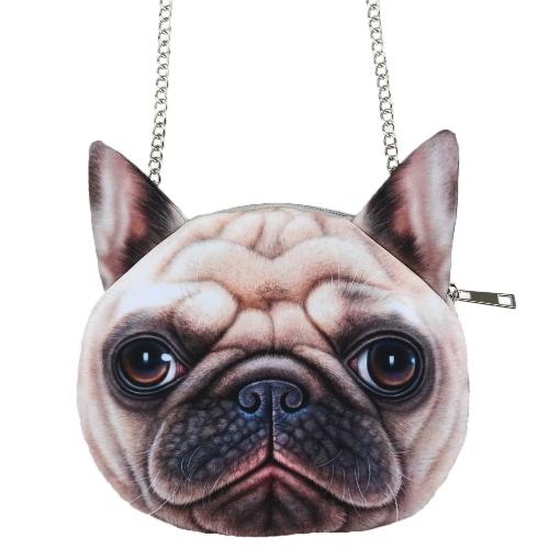 Cute Fashion Women Crossbody Bag Dog Face
