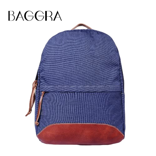 Buy Men Women Canvas Backpack Vintage School Bag Large Capacity Zipper Casual Laptop Travel Ruchsack Blue/Coffee/khaki