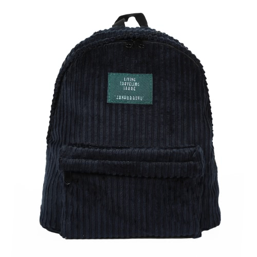 New Fashion Women Girls Backpack Corduroy Solid Color Large Capacity Casual Student Schoolbag Travel BagNew Fashion Women Girls Backpack Corduroy Solid Color Large Capacity Casual Student Schoolbag Travel Bag<br><br>Blade Length: 36.0cm