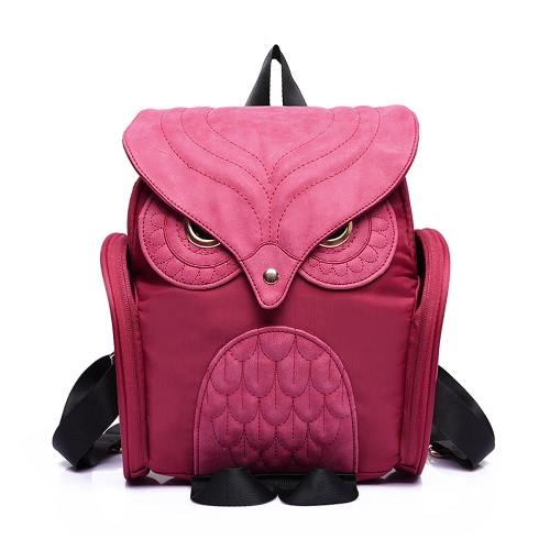 Vintage Owl Shape Flap Over PU Leather