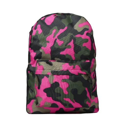 Men Women Camouflage Printed Backpack Laptop Bag