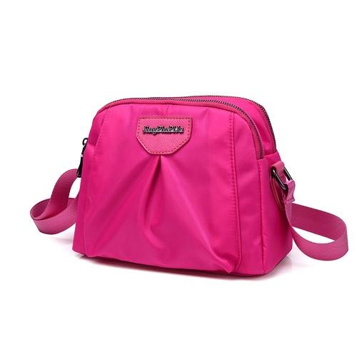 Women Nylon Shoulder Bag Zipper Adjustable Strap Waterproof Durable Casual Travel Crossbody BagWomen Nylon Shoulder Bag Zipper Adjustable Strap Waterproof Durable Casual Travel Crossbody Bag<br><br>Blade Length: 24.0cm