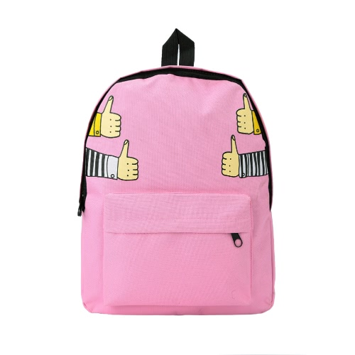 New Men Women Canvas Backpack Thumb Up