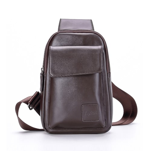 New Fashion Men Sling Bag PU Leather Flap Pocket Solid Color Casual Chest Crossbody Bag Black/BrwonNew Fashion Men Sling Bag PU Leather Flap Pocket Solid Color Casual Chest Crossbody Bag Black/Brwon<br><br>Blade Length: 24.0cm
