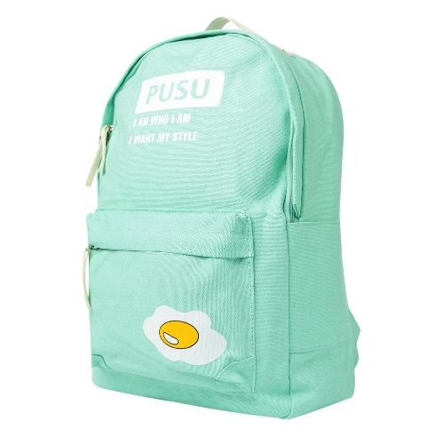 Women Canvas Backpack Set School Bag Print