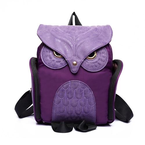 Vintage Owl Shape Flap Over PU Leather