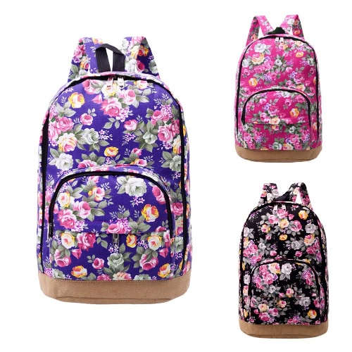 Casual Women Canvas Backpack Shoulder Bag Vintage
