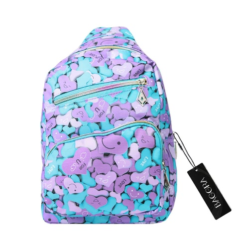 Fashion Women Backpack Front Zipper Pocket Zip