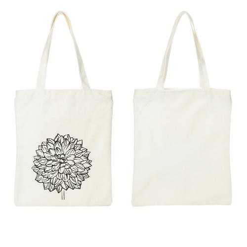 Women Canvas Shoulder Bag Shopping Tote Eco Reusable Floral Print Zipper Large Capacity Handbag WhiteWomen Canvas Shoulder Bag Shopping Tote Eco Reusable Floral Print Zipper Large Capacity Handbag White<br><br>Blade Length: 33.0cm