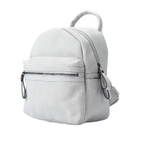 Fashion Women Backpack Solid Color PU Leather