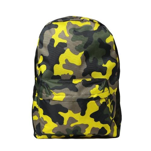 Men Women Camouflage Printed Backpack Laptop Bag