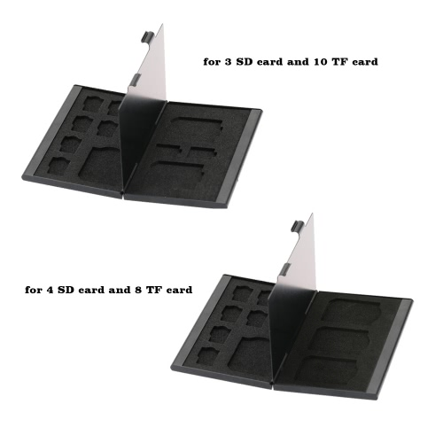 Aluminium Alloy Memory Card Storage Carrying Protector Box Case Cover Holder Wallet for SD TF Card Portable C2875B-1