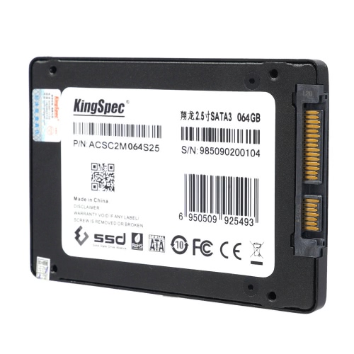 "KingSpec SATA 3.0 2.5"" 128GB MLC Digital SSD with Cache for PC C2633"