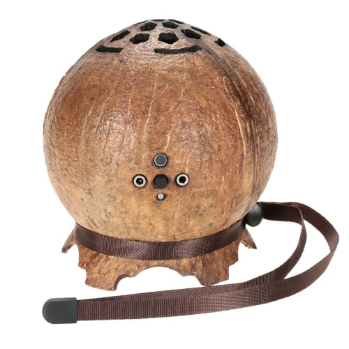 Buy Ultra Portable Mini Wireless Coconut Shell Bluetooth 4.0 Speaker Super Bass Stereo Audio Music Player Hands-free Calls Built-in Microphone Mic