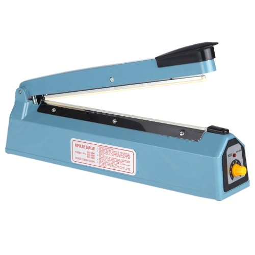 "12"" 300mm Impulse Heat Sealer 400W 220V��240V Handheld Hand Sealing Machine PP PE Manual Plastic Poly Bag Film Closer"