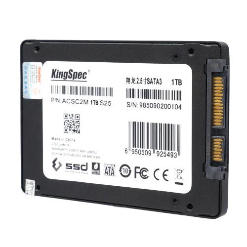 "KingSpec SATA 3.0 2.5"" 1TB MLC Digital SSD with Cache for PC C2636"