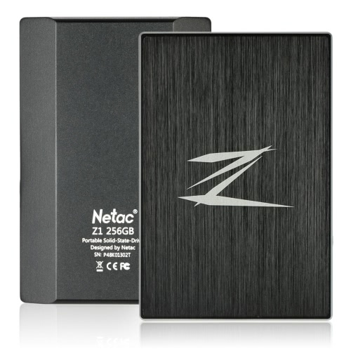 Netac Z1 256GB Portable SSD External Solid State Drive SuperSpeed USB 3.0 ?Cache 256MB C2993-256