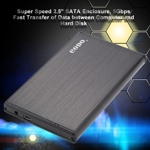 Godo Super Speed 2.5 SATA SSD HDD Hard Disk Drive to USB 3.0 5Gbps Converter Adapter Card External Enclosure Case Caddy + USB CablePortable Disk &amp; Enclosures<br>Godo Super Speed 2.5 SATA SSD HDD Hard Disk Drive to USB 3.0 5Gbps Converter Adapter Card External Enclosure Case Caddy + USB Cable<br><br>Blade Length: 15.4cm
