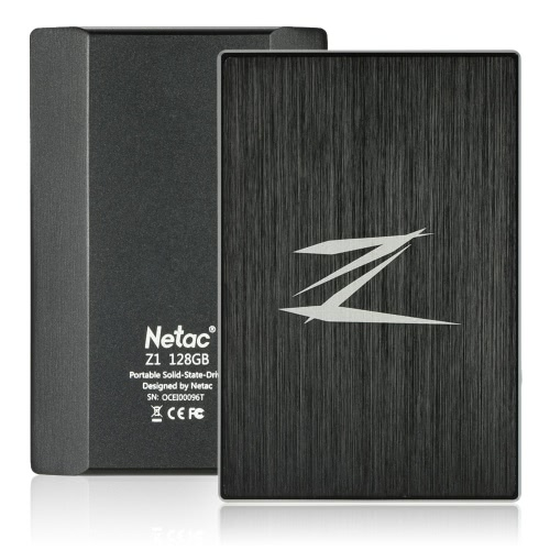 Netac Z1 256GB Portable SSD External Solid State Drive SuperSpeed USB 3.0 ?Cache 256MB C2993-128