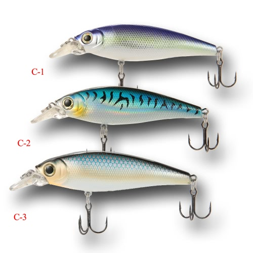 "3pcs 15cm/5.9"""" 3D Floating ABS Minnow Fishing Lures Bait Hooks"" C-Y0149"