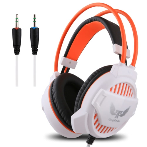 Ovann G1 Professional Esport Gaming Stereo Bass Headset Headphone Earphone Over Ear 3.5mm Wired with Microphone for PC Computer Laptop C3096W-C