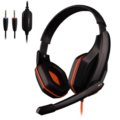Ovann X1 Professional Esport Gaming Stereo Bass Headset Headphone Earphone Over Ear 3.5mm Wired with Microphone for PC Computer Laptop C3098C