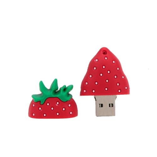 Buy Cute Cartoon Strawberry Style USB 2.0 Flash Storage Drive Popular Fruit U Disk Memory Stick Thumb Pen Keyhole