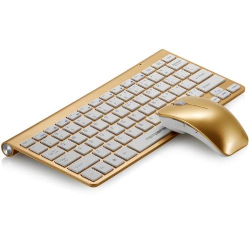 Buy Ultra Thin Slim 2.4 GHz DPI Wireless Keyboard & Optical Mouse Combo Set Kit USB Nano Receiver Windows 7/8 Vista XP Mac OS PC Laptop Desktop