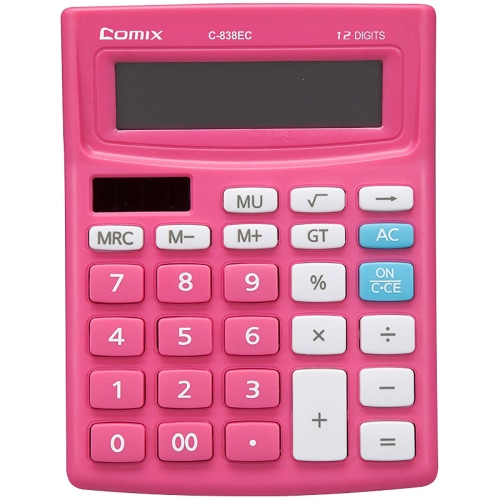 Comix C-838EC Colorful Standard Function Desktop Calculator 12 Digits Solor and Battery Dual Power for School Office HomeOther<br>Comix C-838EC Colorful Standard Function Desktop Calculator 12 Digits Solor and Battery Dual Power for School Office Home<br><br>Blade Length: 14.4cm